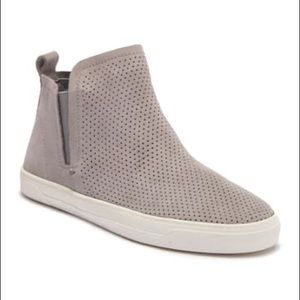 Dolce Vita Xane Perforated Gray Suede Sneaker
